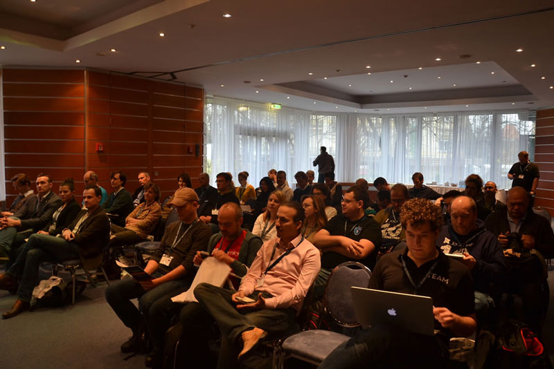 people gathered at JoomlaDay Austria