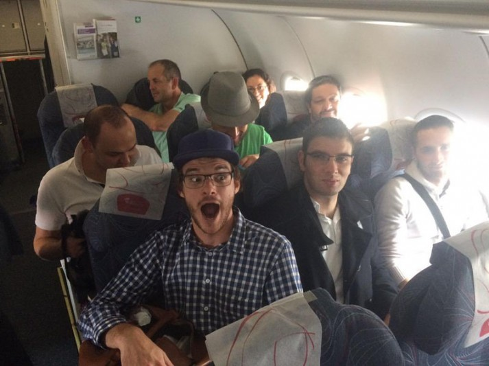 seblod team on plane