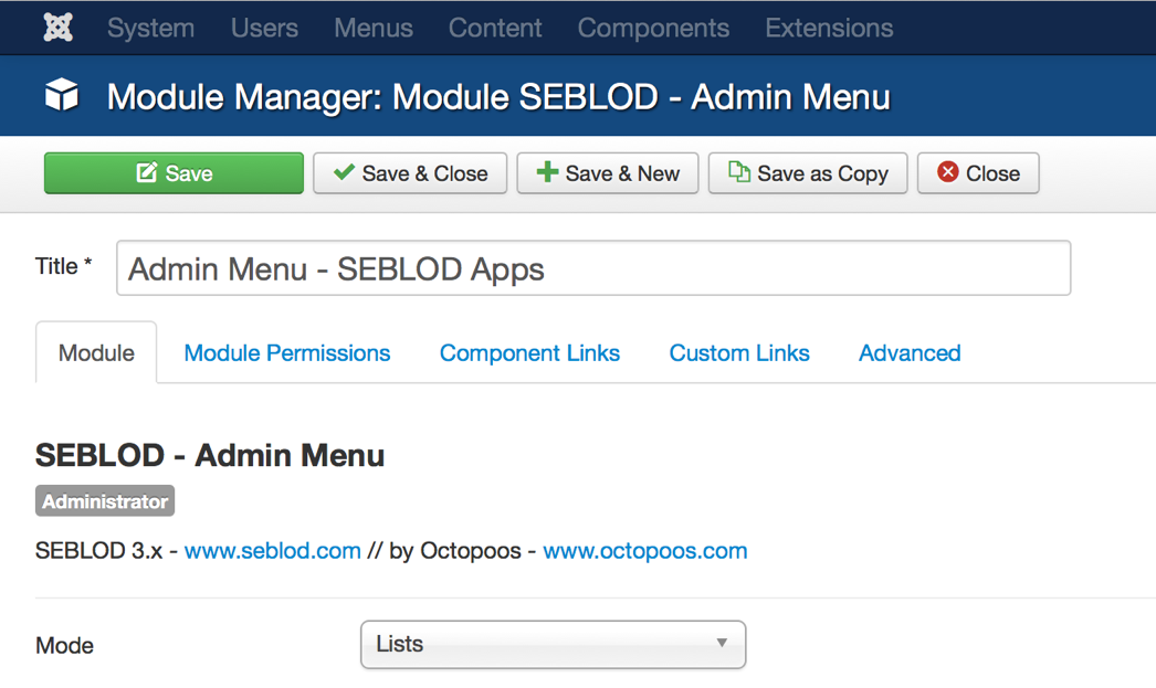 Create an Admin Menu module